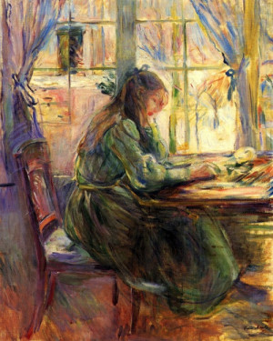 ... , Art, Berthe Morisot, Morisot 1841 1895, Writing Berthe, Young Girls