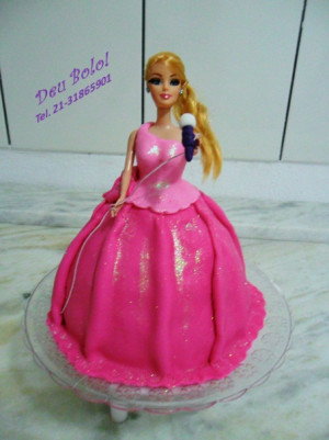 Bolo Barbie Princesa Pop Star
