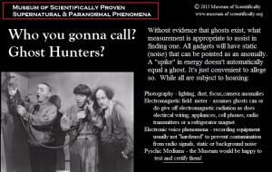 Museum of Scientifically Proven Supernatural & Paranormal Phenomena
