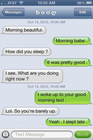 Cute Good Morning Texts for Boyfriend