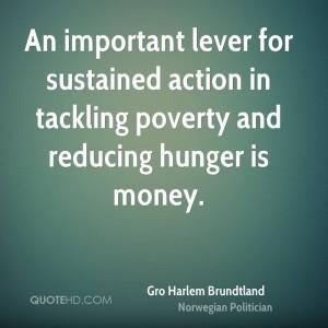 Gro Harlem Brundtland Money Quotes