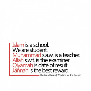 Islam Quotes About Life And Happiness: Islamic Reflections Quote In ...
