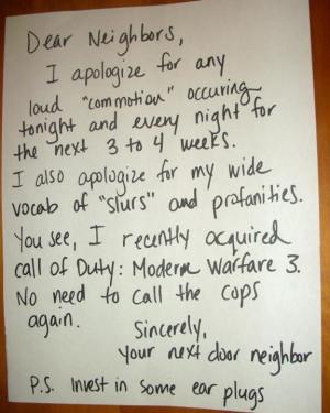Noisy Neighbor.
