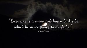 mark twain dark side wallpaper Moon Has a Dark Side   Mark Twain
