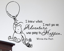 Wall Decals Quotes Classic Winnie t he Pooh I Knew When I Met You An ...