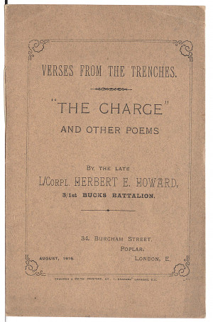 Verses from the Trenches', a volume of poems by Private Herbert ...
