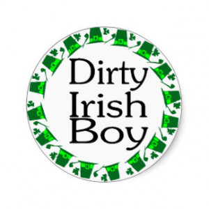 Dirty Irish Boy Round Stickers