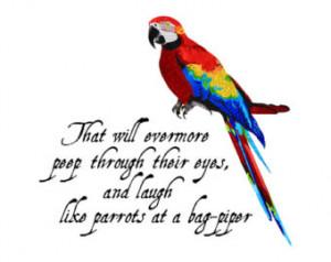 Parrot - Bird - Macaw - Nursery Art - Wall Art - 8x8 Fine Art Print ...
