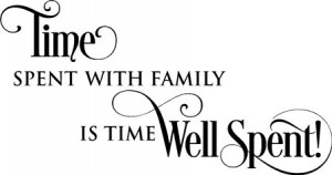 Time Spent With Family Is Time Well Spent
