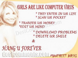 Girls are like virus
