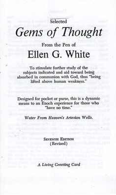 ... from the pen of ellen g white price $ 1 25 more worth reading white
