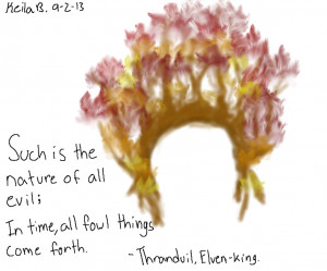 Thranduil's Crown and Quote by KayGoesRawr