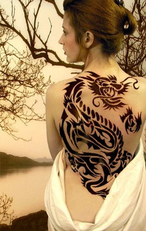 Female Dragon Tattoos Female Tattoos Tumblr Designs Quotes On Side Of ...