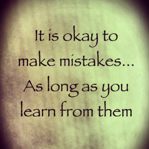 Learning From Past Mistakes