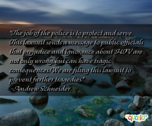The job of the police is to