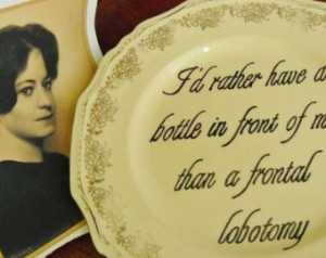 Drinking quote hand painted vintage dinner plate with hanger /Dorothy ...