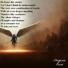 angel demon good evil hope faith understand literature light dark poem ...