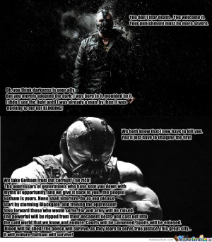 Just Some Bane Quotes #1 (If You Want More Quotes From Some Characters ...