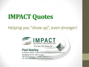 Impact quotes
