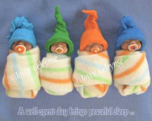 ... Peaceful Sleep, Cute Sleeping Babies with Soothers, Elf Hats, Download