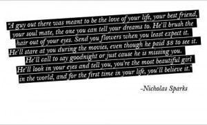 Love quotes from books of nicholas sparks