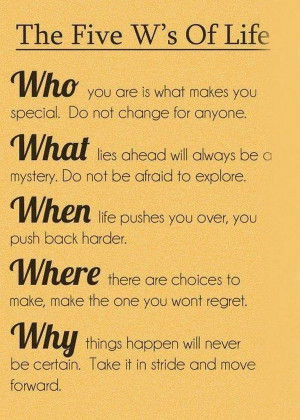 The Five W's Graduation Quote. It's so fantastic to put quotes that ...