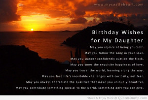 ... Twilight Sky birthday Quotes birthday wishes for a daughter and the
