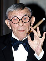 this day in 1996, the legendary cigar-chomping performer George Burns ...