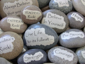 ... Gift - Custom Message Rock - Inspirational Message Stone - Unique