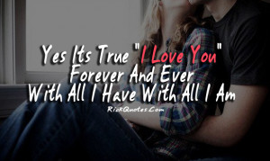 Love You Quotes   Forever And Ever I Love You Quotes   Forever And ...