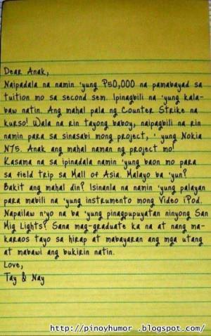 Tagalog funny letter