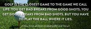 Bobby Jones Golf Quote