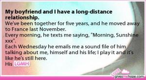 Long Distance Boyfriend Quotes