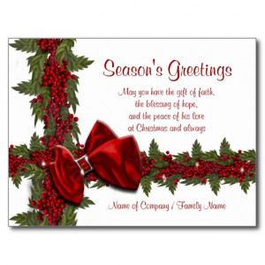 For Corporate World Business Holiday Card Saying