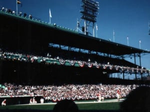 Game 3 of the 1961 World Series at Crosley Field between the Yankees