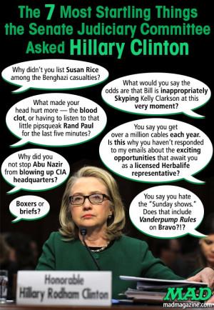 Senate Judicial Hillary Clinton