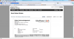 : the quote no longer displays as in the listing on the Sales Quotes ...
