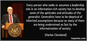More Harlan Cleveland Quotes