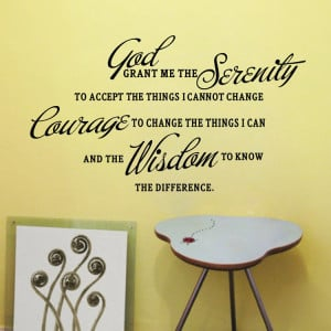 GOD GRANT ME THE SERENITY PRAYER BIBLE Art Quote Vinyl Wall Stickers ...