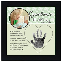 Grandmas Heart and Me Hand Print Picture Frame