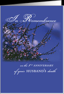 Remembrance 1st Anniversary Death of Husband, Religious card - Product ...