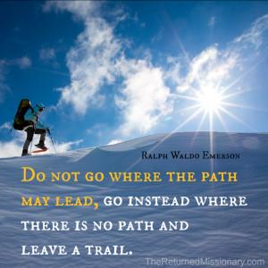 Emerson Quote - Leave a Trail
