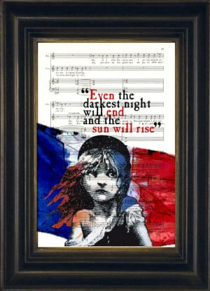... › Illustration › Victor Hugo Les Misérables Quote French Flag