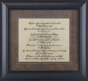Mother Teresa Framed Quotes. QuotesGram