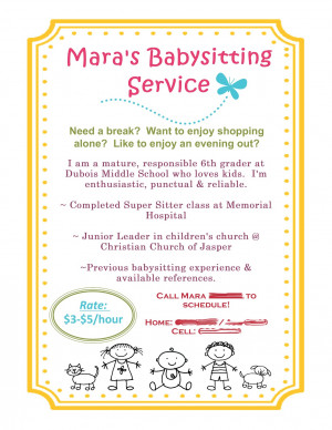 Babysitting Flyer using MDS!