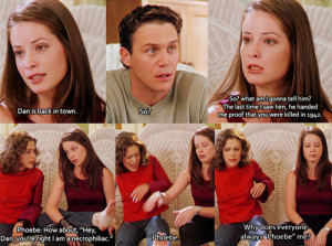 charmed, funny, leo, phoebe, phoebe me, piper, witch