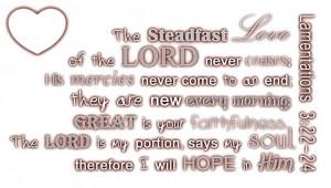 Lamentations 3: 22-24
