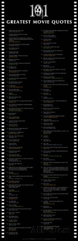 101 Greatest Movie Quotes Poster