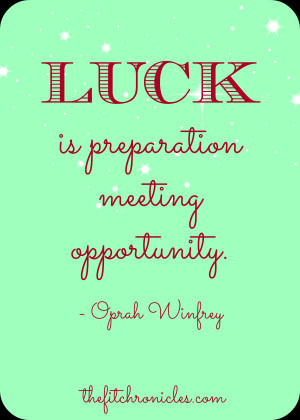 luck oprah quote, luck quote oprah winfrey, motivational quote, lucky ...