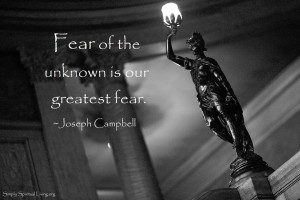 Fear of the unknown is our greatest fear.